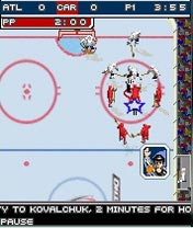 Jeu mobile NHL 5 Sur 5 2007 - captures d'écran. Gameplay NHL 5-ON-5 2007.