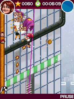 Скриншот java игры Crazy Window Cleaners. Игровой процесс.