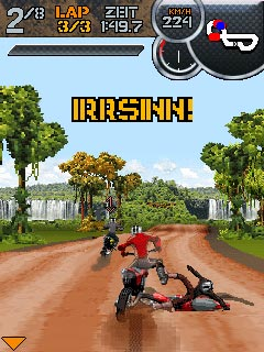 Скриншот java игры X-treme Dirt Bike. Игровой процесс.