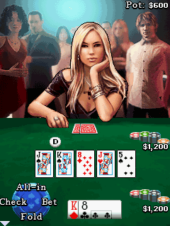 Mobil-Spiel Texas Holdem Poker - Screenshots. Spielszene Texas Hold'em Poker.