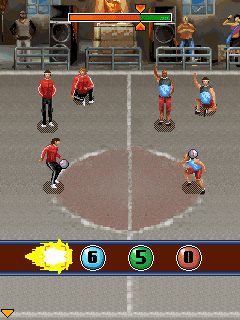 Скриншот java игры Ultimate Street Football. Игровой процесс.