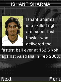Download free mobile game: Ishant Sharma\'s Cricket Fever - download free games for mobile phone.