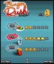 Jeu mobile La Panique de Burgers - captures d'écran. Gameplay Burger Rush.