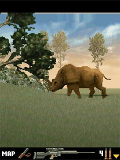 Скриншот java игры Big Range Hunting 3D. Игровой процесс.