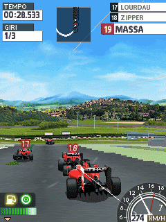Mobile game Ferrari World Championship 2009 - screenshots. Gameplay Ferrari World Championship 2009.