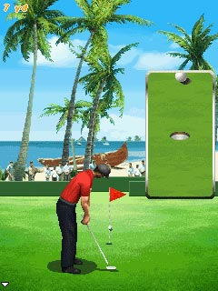 Скріншот java гри Pro Golf 2010. World Tour. Ігровий процес.