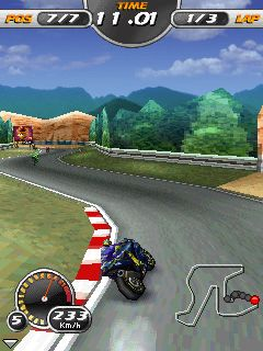 Download free game for mobile phone: 3D Moto Racing Evolved - download mobile games for free.