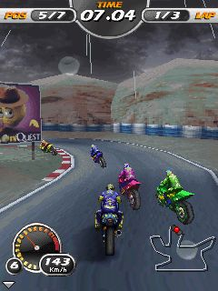 Mobile game 3D Moto Racing Evolved - screenshots. Gameplay 3D Moto Racing Evolved.