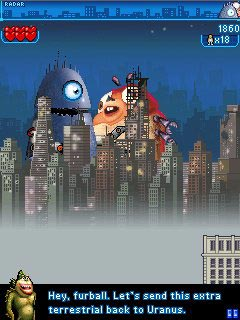 Monsters vs. Aliens The Mobile Game手机游戏- 截图。Monsters vs. Aliens The Mobile Game游戏。