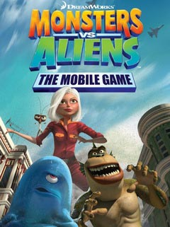 Jeu mobile Les Monstres contre les Extraterrestres Portable - captures d'écran. Gameplay Monsters vs. Aliens The Mobile Game.