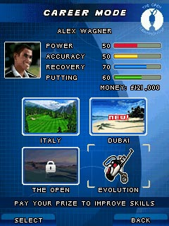 Jeu mobile Le Golf. L'Ouverture de la Saison 2009 - captures d'écran. Gameplay Golf. The Open 2009.