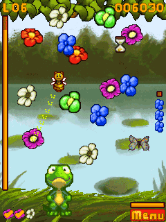 Скриншот java игры Flower Power Gecko. Игровой процесс.