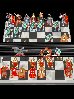 Mobil-Spiel Chroniken der Schachturniere - Screenshots. Spielszene Chess Chronicles.