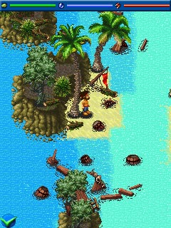 Jeu mobile Robinson Crusoe: La Naufrage - captures d'écran. Gameplay Robinson Crusoe: Shipwrecked.