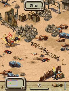 Mobil-Spiel Attacke der Zombies - Screenshots. Spielszene Zombie Attack.