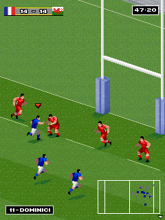Jeu mobile Le Vrai Rugby  - captures d'écran. Gameplay Real Rugby.