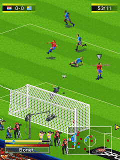 Mobile game Real Football 2010 - screenshots. Gameplay Real Football 2010.