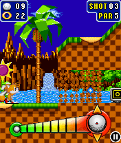 Download free mobile game: Sonic The Hedgehog Golf - download free games for mobile phone.