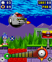 Jeu mobile Le Golf de Sonic Le Hérisson - captures d'écran. Gameplay Sonic The Hedgehog Golf.