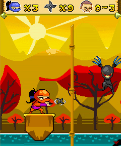 Jeu mobile Ninja Ninya: Vers le Sauvetage - captures d'écran. Gameplay Ninya Ninja:To The Rescue.