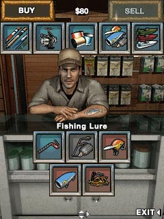 Скриншот java игры  Bass Fishing Mania 2. Игровой процесс.