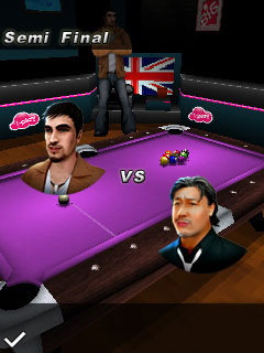 Download free game for mobile phone: World championship pool 2010 3D - download mobile games for free.