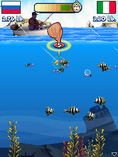 Скриншот java игры  Fishing Off The Hook. Игровой процесс.