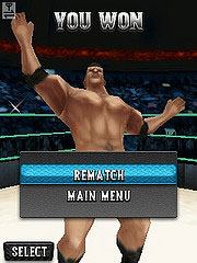 Скриншот java игры WWE SmackDown vs. RAW 2010. Игровой процесс.