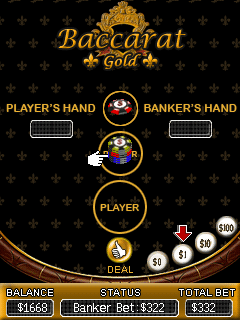 Download free game for mobile phone: Baccarat Gold - download mobile games for free.