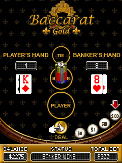 Mobile game Baccarat Gold - screenshots. Gameplay Baccarat Gold.
