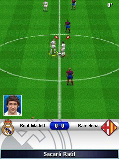 Скриншот java игры Real Madrid Futbol 2009 3D. Игровой процесс.
