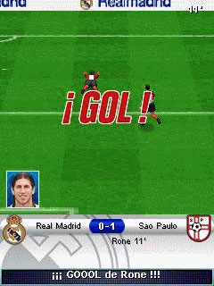 Jeu mobile Le Football de Real Madrid 2009 3D - captures d'écran. Gameplay Real Madrid Futbol 2009 3D.