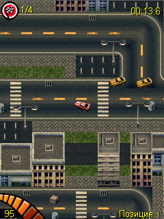 Mobil-Spiel Heftiges Donnern - Screenshots. Spielszene Raging Thunder.