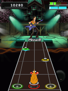 Mobile game Guitar Hero 5 Mobile - screenshots. Gameplay Guitar Hero 5 Mobile.