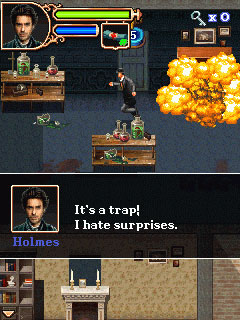Mobil-Spiel Sherlock Holmes: Das Spiel zum Film - Screenshots. Spielszene Sherlock Holmes: The Official Movie Game.