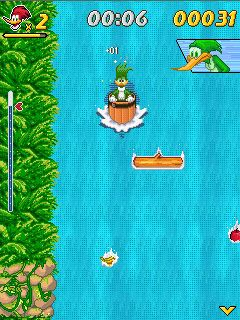Скриншот java игры Woody wood pecker: In waterfools. Игровой процесс.