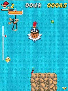 Download free game for mobile phone: Woody wood pecker: In waterfools - download mobile games for free.