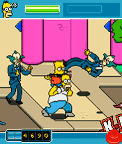 Скриншот java игры The Simpsons Arcade. Игровой процесс.