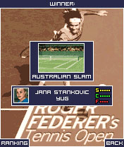 Mobile game Roger federers tennis open - screenshots. Gameplay Roger federers tennis open.