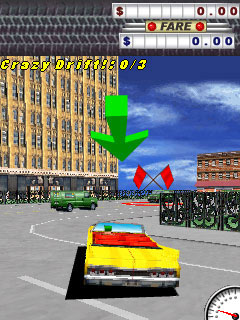 Mobile game Crazy Taxi - screenshots. Gameplay Crazy Taxi.