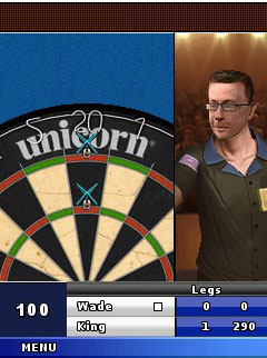 Скриншот java игры PDC World Darts Championship 2010. Игровой процесс.