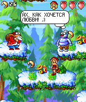 Скриншот java игры Red Hat: Christmas. Игровой процесс.