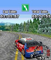 Скриншот java игры Rally Evolution 3D. Игровой процесс.