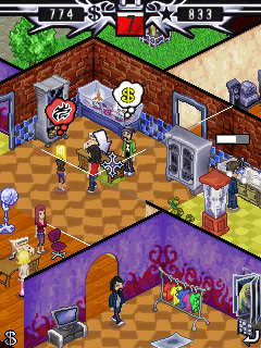 Mobil-Spiel Tattoo Magnat - Screenshots. Spielszene Tattoo Tycoon.