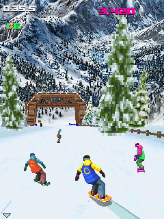 Mobile game Avalanche Snowboarding - screenshots. Gameplay Avalanche Snowboarding.