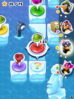 Jeu mobile La Soirée d'Enfer des Pinguins - captures d'écran. Gameplay Crazy Penguin Party.
