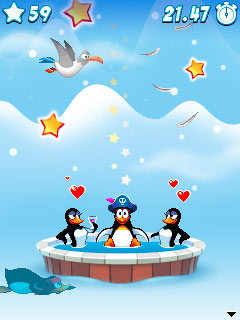 Скриншот java игры Crazy Penguin Party. Игровой процесс.