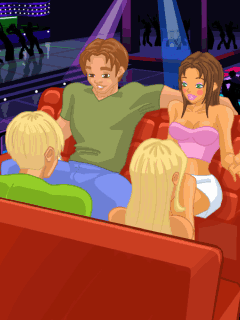 Скриншот java игры Bad Girl: Double Date. Игровой процесс.