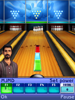 Mobil-Spiel Die Sims: Bowling - Screenshots. Spielszene The Sims: Bowling.
