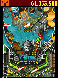 Mobil-Spiel King Kong: Flipper - Screenshots. Spielszene King Kong: Pinball.